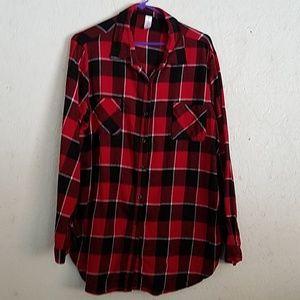 Flannel button down shirt size 3x